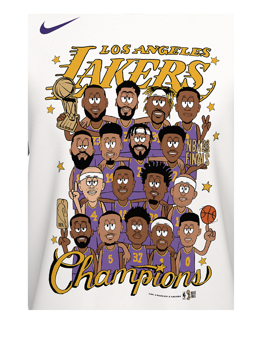 Los Angeles Lakers 2020 NBA Champions Youth Roster T-shirt