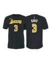 Los Angeles Lakers 90's Kente Letter Performance Short Sleeve Tee - Black
