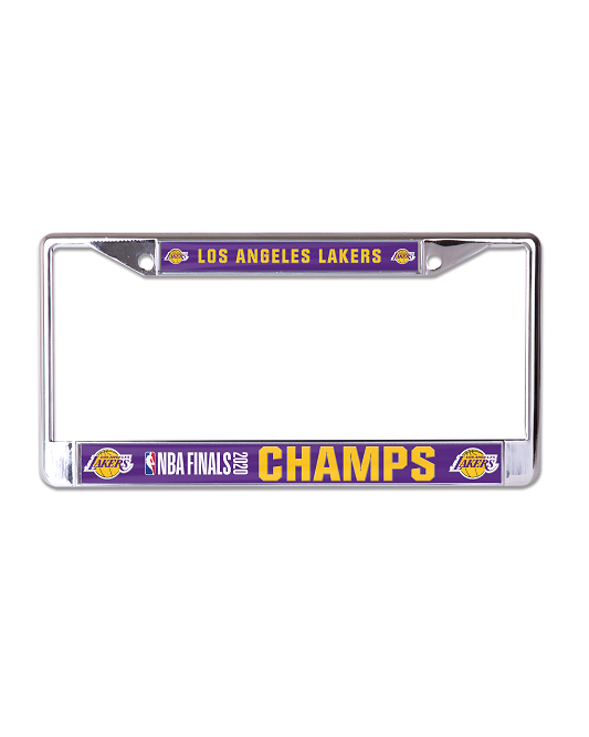 2020 NBA Champions Metal Frame Los Angeles Lakers License Plate