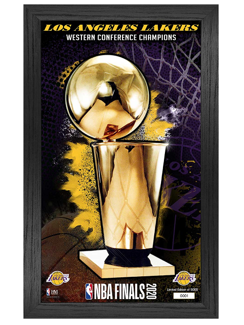 Los Angeles Lakers NBA Finals Trophy Panoramic Frame