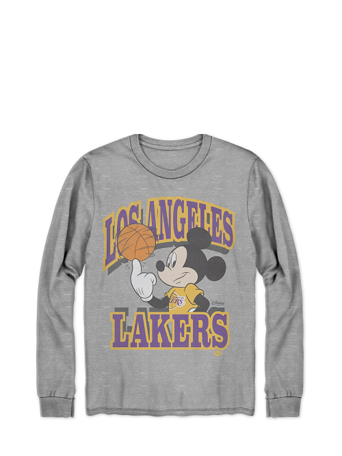 Pre-Order Los Angeles Lakers Disney Mickey Team Name Long Sleeve T-Shirt