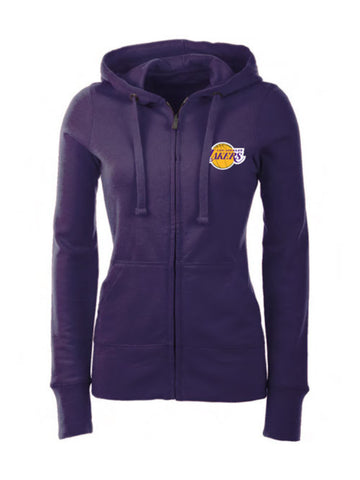 Los Angeles Lakers Women's Primary Logo Screen Full Zip Hood - Purple