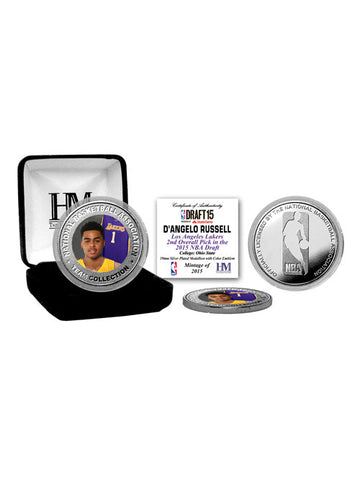 Los Angeles Lakers D'Angelo Russell Silver Coin