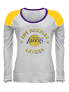 Los Angeles Lakers LeBron James Women's Backer Name & Number V-Neck - White