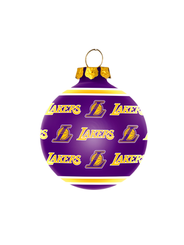 Los Angeles Lakers Glass Ornament