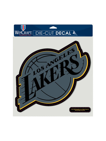 Los Angeles Lakers 8x8 Black Tonal Logo Decal