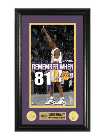 Los Angeles Lakers Kobe Bryant Remember When 81 Photo Mint