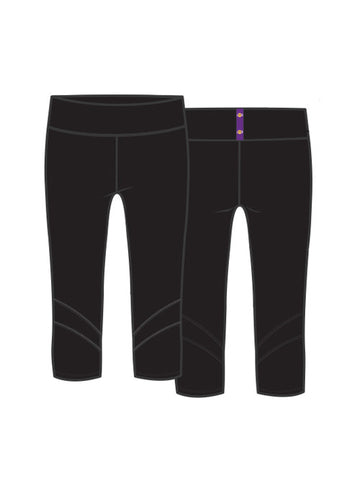 Los Angeles Lakers Women's Slim Capri Bottoms