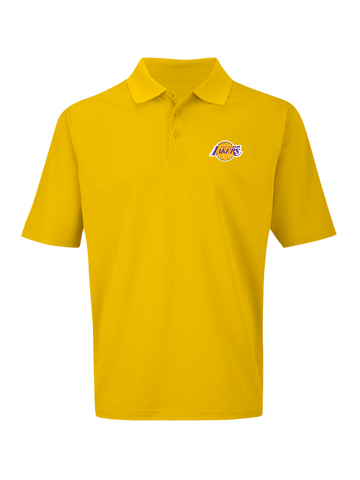 Los Angeles Lakers Big and Tall Primary Logo Birdseye Polo