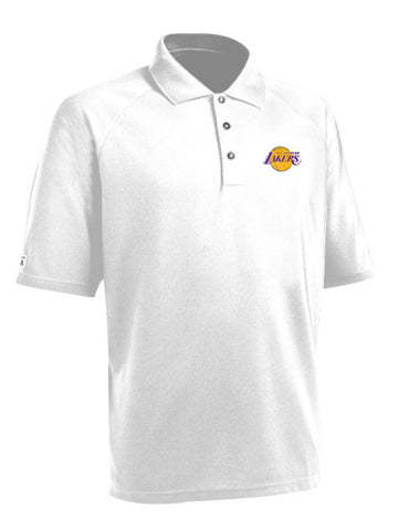 Los Angeles Lakers Primary Logo White Whisper Lite Polo