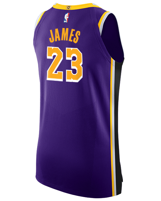 Los Angeles Lakers LeBron James Statement Edition Authentic Jersey ...