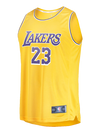 Los Angeles Lakers Youth LeBron James Replica Jersey - Gold