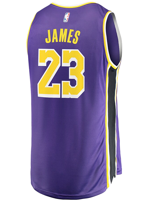 the best attitude 55305 00155 Los Angeles Lakers LeBron James Replica Jersey - Purple