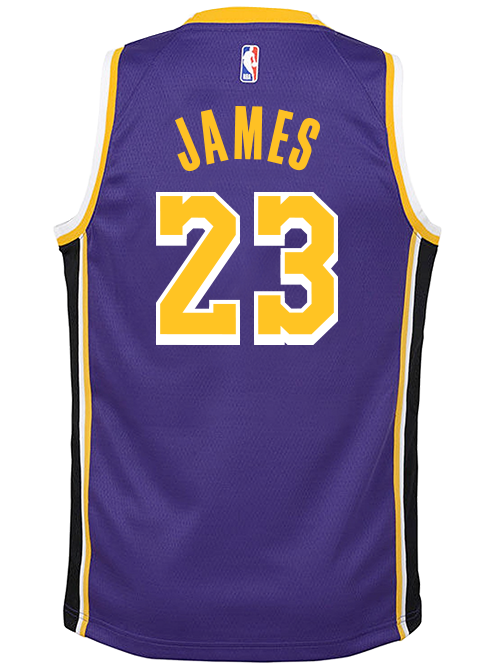 on sale 3bf0a b3d2f Los Angeles Lakers Youth LeBron James Statement Edition Swingman Jersey