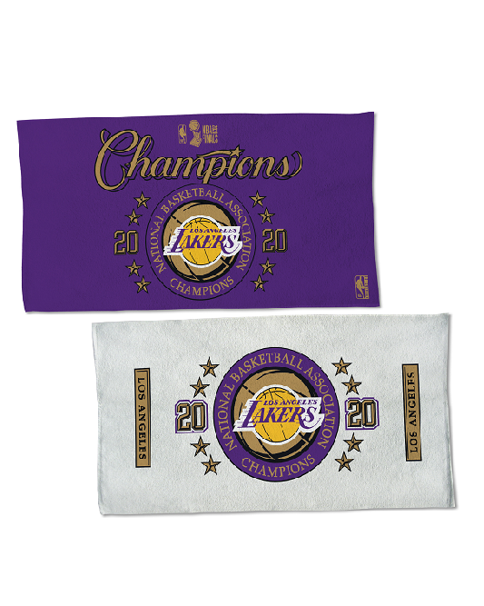 2020 NBA Champions Locker Room Los Angeles Lakers Towel