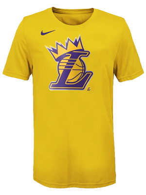 Los Angeles Lakers Kids LeBron James Crown T-Shirt - Gold