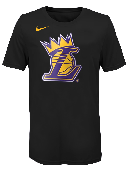 Los Angeles Lakers Youth LeBron James Crown T-Shirt - Black