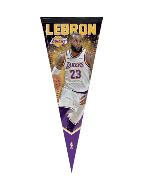 Los Angeles Lakers LeBron James Pennant