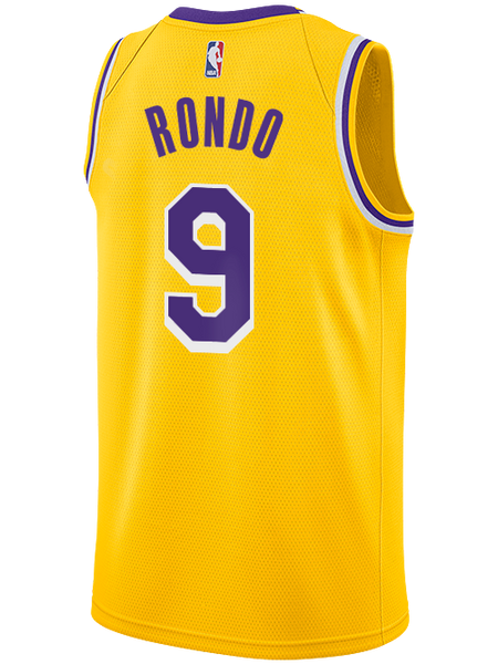 meet 8221a e24ec Los Angeles Lakers Rajon Rondo 2019-20 Icon Edition Swingman Jersey