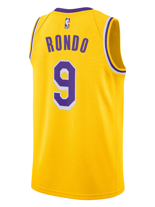 Los Angeles Lakers Rajon Rondo 2018-19 Icon Edition Swingman Jersey dc671496d