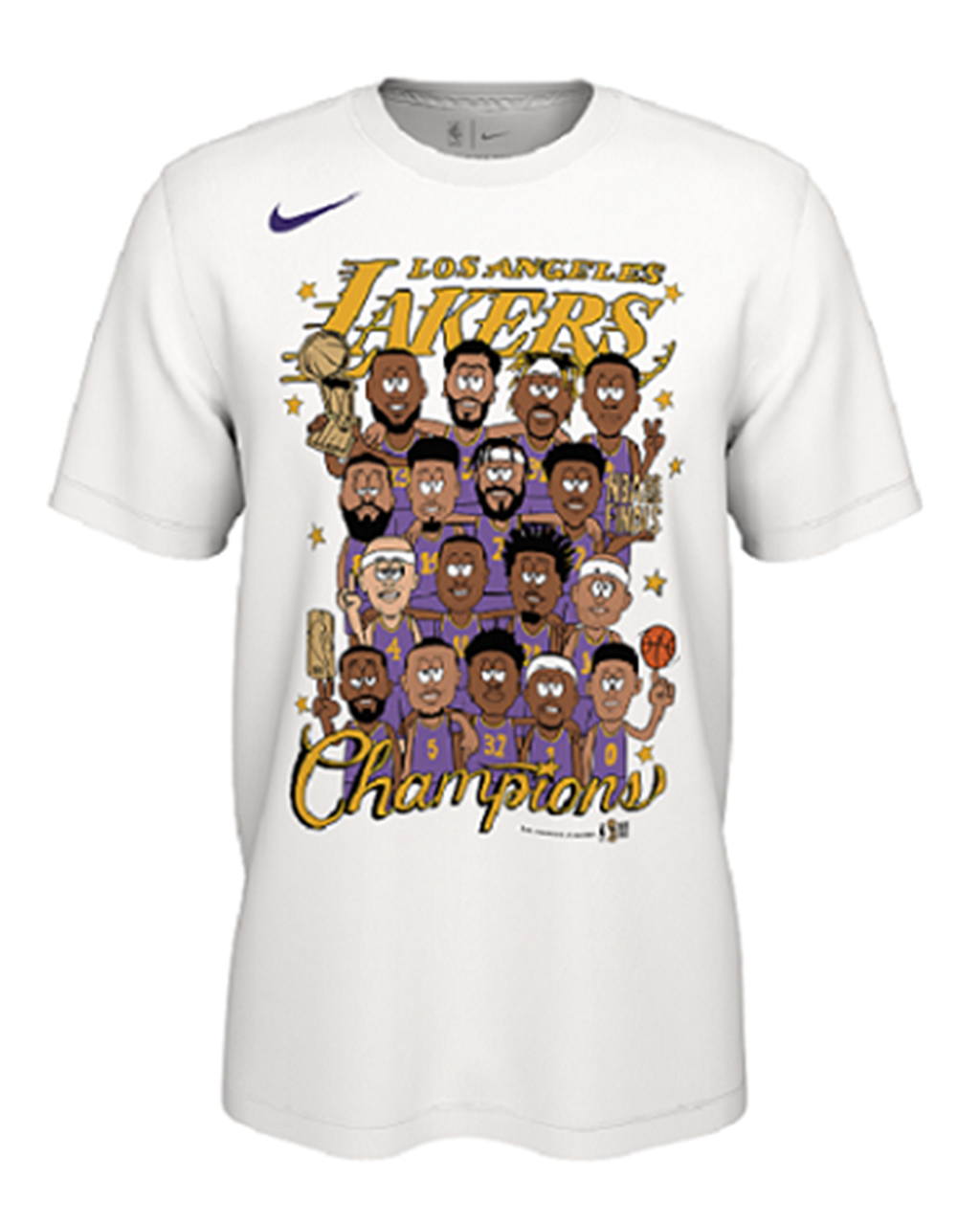 2020 NBA Champions Roster Los Angeles Lakers Tee