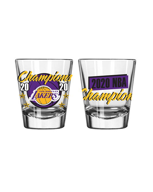 2020 NBA Champions Logo Los Angeles Lakers 2oz Shot Glass