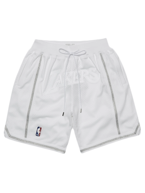 Los Angeles Lakers Just Don Art Baseline Shorts - White