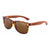 Gafas de sol con patillas de madera - Brown Animal