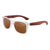 Gafas de sol con patillas de madera - Brown Ice