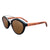 Gafas de sol con patillas de madera - Brown Wave