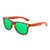 Gafas de sol con patillas de madera - Green Animal