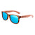 Gafas de sol con patillas de madera - Icy Blue Animal