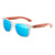 Gafas de sol con patillas de madera - Icy Blue Ice