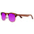 Gafas de sol con patillas de madera - Purple Animal Candy