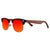 Gafas de sol con patillas de madera - Red Candy