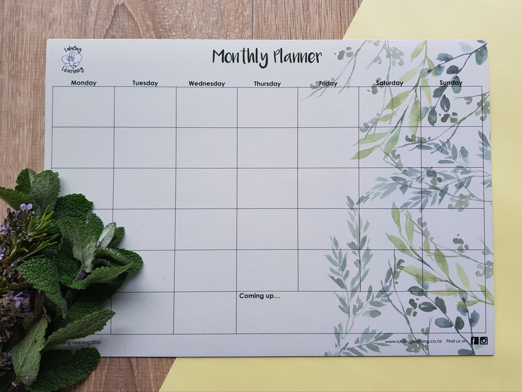 Monthly Planner - Foliage
