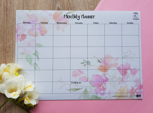 Monthly Planner - Floral