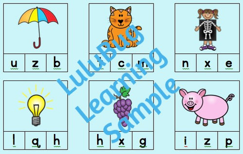 What sound?  Alphabet Picture Match - Digital Download