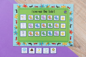 Toilet Training Chart - Bugs and Butterflies