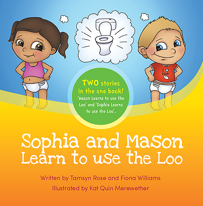Sophia and Mason learn to use the Loo Book