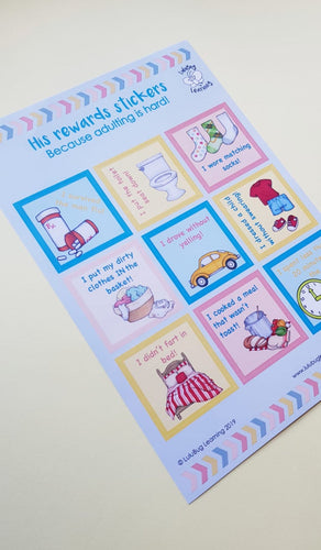 His Rewards Stickers
