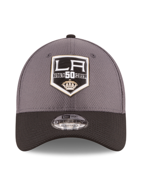 Los Angeles Kings 50th Anniversary Logo Embossed Chevron Cap
