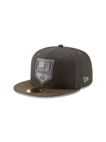 LA Kings 59FIFTY Sueded Up Fitted Cap - Grey