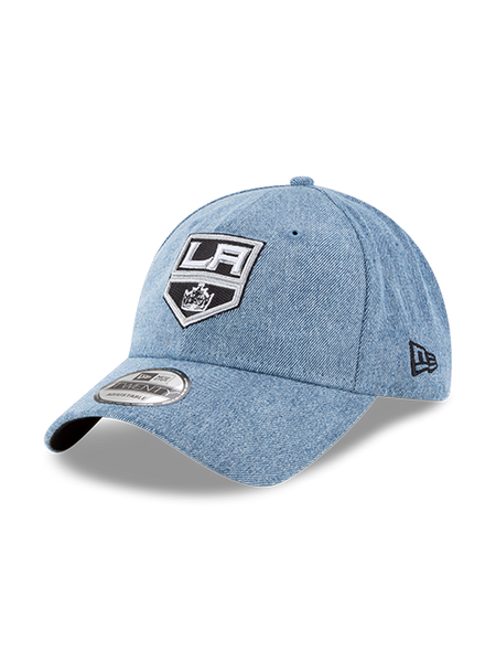LA Kings 9TWENTY Crown Washed Out Denim Adjustable Cap