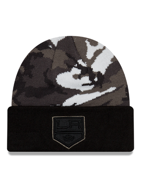 LA Kings Shield Urban Camo Cuffed Knit Hat