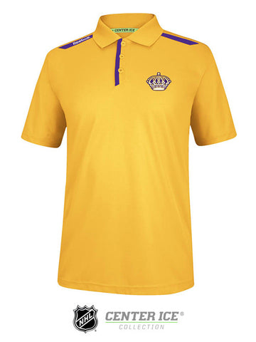 Los Angeles Kings Vintage Center Ice Polo - Gold
