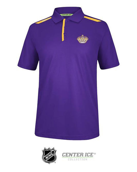 Los Angeles Kings Vintage Center Ice Polo - Purple