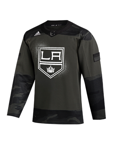 LA Kings Authentic Pro Military Practice Jersey