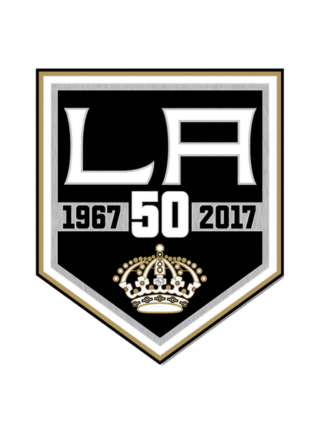 Los Angeles Kings 50th Anniversary Enamel Pin with Stone