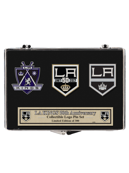 Los Angeles Kings 50th Anniversary Crest 3 Pin Set
